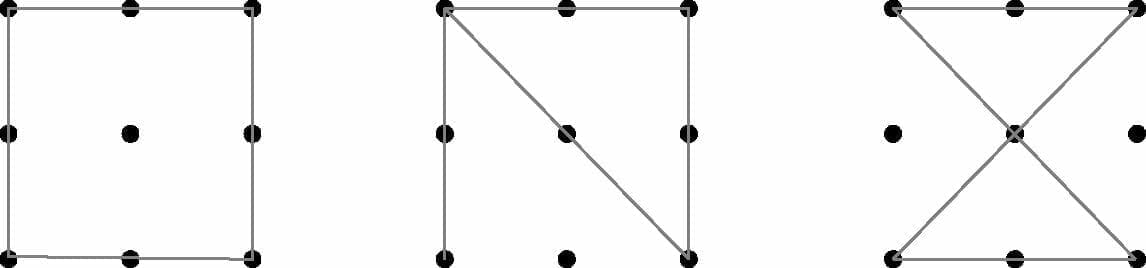 9 dot attempted solutions